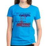 Ronald Reagan Never Aggressor Women's Dark T-Shirt