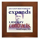 Ronald Reagan Liberty Contracts Framed Tile