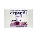 Ronald Reagan Liberty Contracts Rectangle Magnet (
