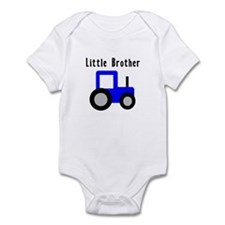 Little Brother Blue Tractor Onesie
