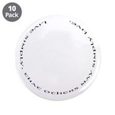 "Live Simply 3.5"" Button (10 pack)"