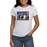 Starry Night / Sheltie (s&w) Women's T-Shirt