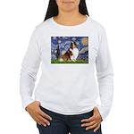 Starry Night / Sheltie (s&w) Women's Long Sleeve T
