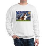 Starry Night / Sheltie (s&w) Sweatshirt