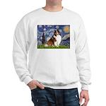 Starry Night / Sheltie (s&w) Sweatshirt