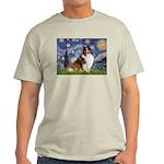 Starry Night / Sheltie (s&w) Light T-Shirt