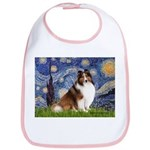 Starry Night / Sheltie (s&w) Bib