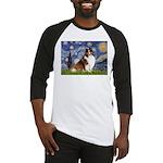 Starry Night / Sheltie (s&w) Baseball Jersey