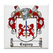 Cagney Family Crest Tile Coaster