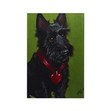 Valentine Scottie Dog Rectangle Magnet