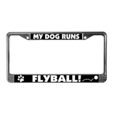 My Dog Runs Flyball License Plate Frame