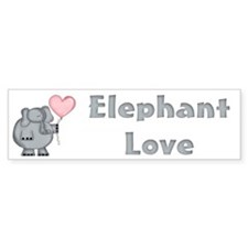 Elephant Love Bumper Bumper Sticker