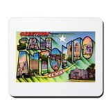 San Antonio Texas Greetings Mousepad