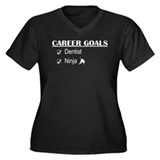 Dentist Career Goals Women's Plus Size V-Neck Dark