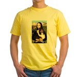 Mona Lisa / Sheltie (s&w) Yellow T-Shirt