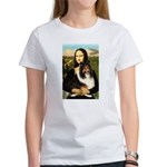 Mona Lisa / Sheltie (s&w) Women's T-Shirt