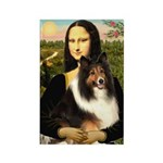 Mona Lisa / Sheltie (s&w) Rectangle Magnet (10 pac