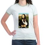 Mona Lisa / Sheltie (s&w) Jr. Ringer T-Shirt