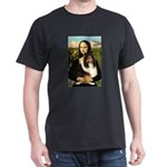 Mona Lisa / Sheltie (s&w) Dark T-Shirt