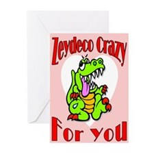 Zydeco Crazy For You Greeting Cards (Pk of 10)