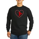 Be My Valentine Cupid Long Sleeve Dark T-Shirt