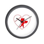 Be My Valentine Cupid Wall Clock