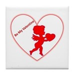 Be My Valentine Cupid Tile Coaster