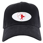 Be My Valentine Cupid Black Cap