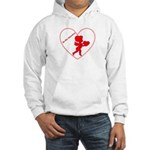 Be My Valentine Cupid Hooded Sweatshirt