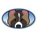 Anime Akita Oval Decal
