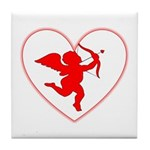 Cupis's Arrow Valentine Tile Coaster