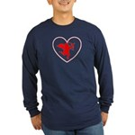Cupis's Arrow Valentine Long Sleeve Dark T-Shirt