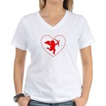 Cupis's Arrow Valentine Women's V-Neck T-Shirt