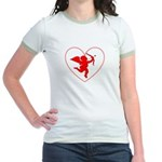 Cupis's Arrow Valentine Jr. Ringer T-Shirt