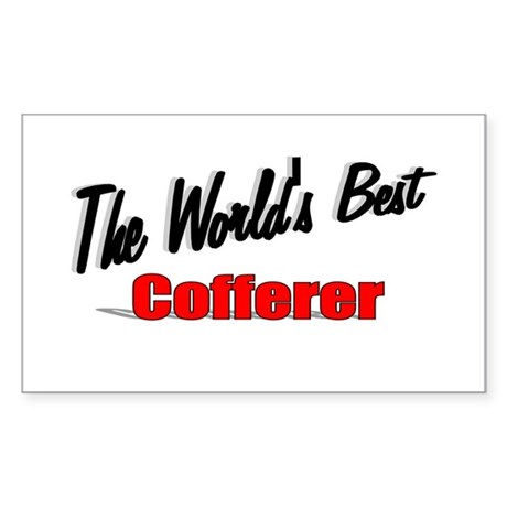 """The World's Best Cofferer"" Rectangle Sticker"