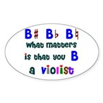 B a Violist Oval Sticker