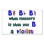 B a Violist Rectangle Sticker