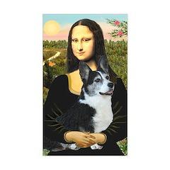Mona Lisa / Corgi (bibl)Mona's Pembroke Sticker (R