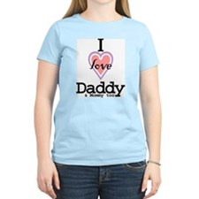 I Love Daddy and Mommy Too Women's Pink T-Shirt