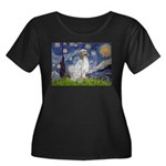 English Setter / Starry Night Women's Plus Size Sc