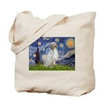 English Setter / Starry Night Tote Bag