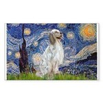 English Setter / Starry Night Sticker (Rectangle)