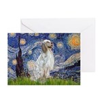 English Setter / Starry Night Greeting Cards (Pk o