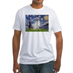 English Setter / Starry Night Fitted T-Shirt