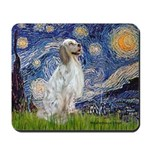 English Setter / Starry Night Mousepad