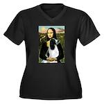 Mona Lisa/English Springer Women's Plus Size V-Nec
