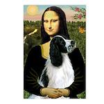 Mona Lisa/English Springer Postcards (Package of 8