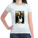 Mona Lisa/English Springer Jr. Ringer T-Shirt
