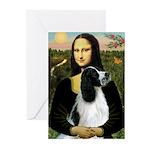 Mona Lisa/English Springer Greeting Cards (Pk of 2