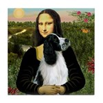 Mona Lisa/English Springer Tile Coaster